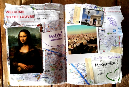 Page From My travel journal about the Louvre museum and my trip to Paris